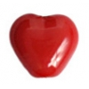 Glass Heart Bead 6mm Red